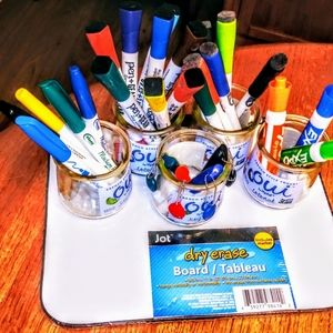 🌟Bundle of dry erase markers &new dry erase board